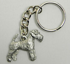 Wire Fox Terrier Dog Keychain Keyring Harris Pewter Made USA Key Chain
