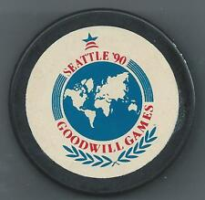 1990 Goodwill Games  Seatle WA  Souvenir Hockey Puck