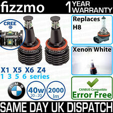 FIZZMO BMW H8 40w CREE LED ANGEL EYE HALO RING LIGHT BULB XENON WHITE ERROR FREE