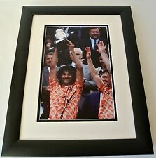 Ruud Gullit SIGNED FRAMED Photo Autograph 16x12 Huge display Holland PROOF COA