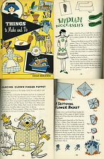 THINGS to MAKE and DO 125 Arts Crafts Projects for Children Child Horizons 1961