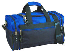 "21"" Men/Women Travel  Duffle Duffel Gym Sports Bag, Multi-Usage Royal/Black"