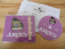 CD Pop Bent Fabric - Jukebox (4 Song) Promo UNIVERSAL +Presskit sc
