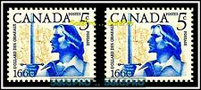 2x CANADA 1960 CANADIAN DOLLARD DES ORMEAUX MINT FV FACE 10 CENT MNH STAMP LOT
