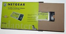 Netgear CardBus Notebook Adapter 10/100 Mbps Fast Ethernet 32-bit in Box