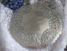 """12"""" INCH ROUND LARGE SILVER FOIL PAPER LACE DOILY 25 PCS WEDDING PLACEMATS TABLE"""
