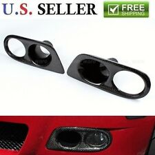 For 2001-2006 BMW E46 M3 Convertible Real Carbon Fiber Fog Light Air Duct Covers