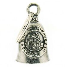 St Christopher Guardian Bell Hanger Pewter Collectibles Motorcycle Item Legend