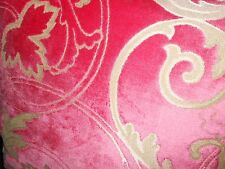 Throw pillow Designers Guild pink cut velvet on textured golden beige new ONE
