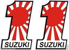 2x Suzuki Motorcycle japanese bike flag decals car van bus truck Sticker Scooter