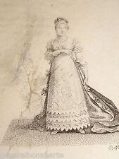 RARE Gravure Portait MARIE LOUISE IMPERATRICE NAPOLEON Epoque EMPIRE PARMA 1810²