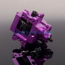 Aluminum Front/Rear Gear Box Complete 06063/06064 PURPLE For RC 1/10 HSP RedCat