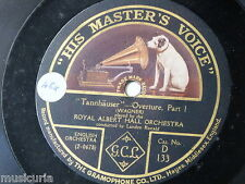 "78rpm 12"" ALBERT HALL ORCH - LANDON RONALD wagner tannhauser overture 1&2 D 133"