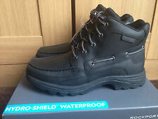 BLACK Rockport Fitchburg Uomini Stivali Impermeabili Uk 9 NUOVO IN SCATOLA