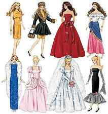 NEW McCalls Dolls & Toys Sewing Pattern 6232 Fashion Doll Clothes FREE SHIPPING