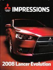 2008 08 Mitsubishi Lancer Evo Evolution brochure MINT
