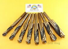 "Silver & Deming Drill Bit Set 9/16-5/8-11/16-3/4-13/16-7/8-15/16-1"" DrillHog USA"