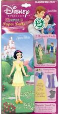 DISNEY SNOW WHITE MAGNETIC PAPER 2 DOLL 36 Magnets in TIN