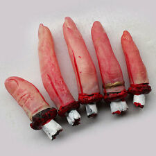 5Pcs One Hand Terrible Severed Fingers Bloody Chop Body Parts Halloween Props