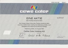 BRD Historisches Wertpapier Aktie CEWE Color AG 50 Deutsche Mark 1992