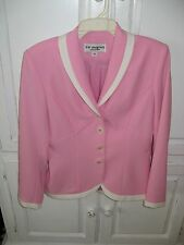 Lew Magram Pink and White Ladies 2 Piece Skirt Suit Size 4 Regular