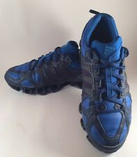 Vintage Adidas Bounce Trainers Blue Black Size 7.5 UK 3 Stripes Shoes