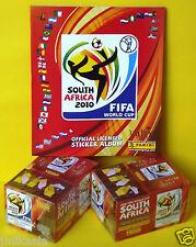 SOUTH AFRICA 2010 - 2 CAJAS PRECINTADAS Y ALBUM CALIDAD PLANCHA - WORLD CUP FIFA