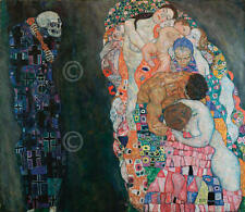 Gustav Klimt Death and Life Symbolist Woman Children Nude Print Poster 22x19.5