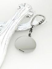 SOLID SILVER KEYRING / KEY RING / CHAIN (ROUND) ENGRAVABLE
