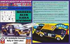 ANEXO DECAL 1/43 FIAT 131 ABARTH MARKKU ALEN 1000 LAKES 1977 (03)