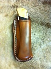 Custom Leather Sheath/Case Buck Knife 112 Open Top Belt Carry New Saddle Leather