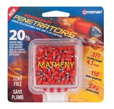 Crosman Powershot Penetrators .177 Cal 4.5mm Hunting Pellets 150 Ct Air Gun BB