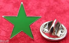 Green Star Lapel Pin Badge Five-pointed Pentagram Brooch