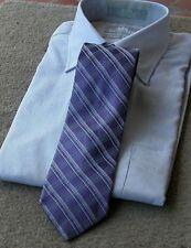 """NEW NWOT Calvin Klein Modern Purple Plaid """"Premium"""" Silk Neck Tie"""