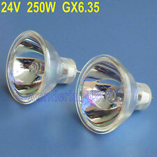 2 x ELC HALOGEN LAMP 24 VOLT 250 WATT 24V 250W For Projector Microscope
