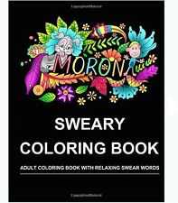 Adults Coloring Book Swear Words Patterns Stress Relief Animals Designs Flower