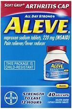 3 Pack - Aleve Arthritis Soft Grip Arthritis Cap, 40 Gelcaps Each