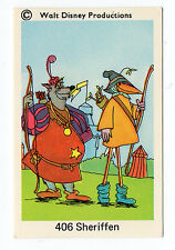 1970s Swedish Walt Disney Card - Robin Hood disguised with Sheriff of Nottingham