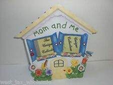 Mom & Me House Smiley Face Spring Flowers Pop-Out Art Mother Picture Frame Gift