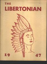 Liberty IN Short High School yearbook 1947 Indiana (includes grades 1 -12)