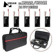 5 x 7.4V 610mAh Batteries + Carrying Bag Case for Hubsan X4 H502S H502E RC Drone