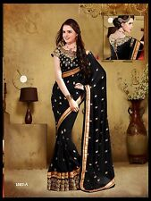 Bollywood Style Latest Designer Pakistani Indian Sari Saree with Blouse