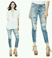 �� GUESS HIGH-RISE FLOWER CHILD JEANS ��