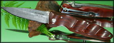 Mcusta VG-10 Core 33 Layer Nickel Damascus Blade Rosewood Pocket Clip MC-14DR