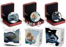 3 coins x 1 oz. Fine Silver Coin - Lost Ships in Canadian Waters 2014 - 2015