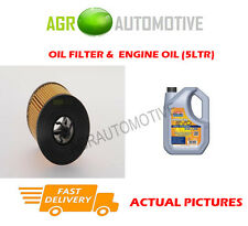 PETROL OIL FILTER + LL 5W30 ENGINE OIL FOR CHEVROLET CAPTIVA 2.4 167BHP 2011-