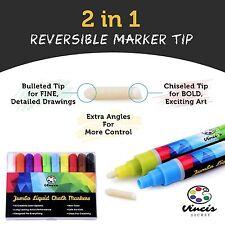ARTIST LIQUID CHALK MARKER SET - 10 Dry Erase Window Markers - Whiteboard System