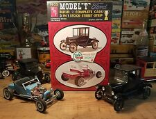 "AMT 1/25 Scale 1925 Model ""T"" Ford Build Two Complete Cars - Factory Sealed 25"