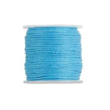 Waxed Cotton Cord Cord Turquoise 0.5mm. Spool of 25 meters / 27.3 Yards.
