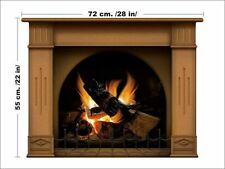 Fireplace wall decal fireplace stickers wall decals for living room decoration
